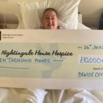 Thankful patient celebrates doubling her fundraising target
